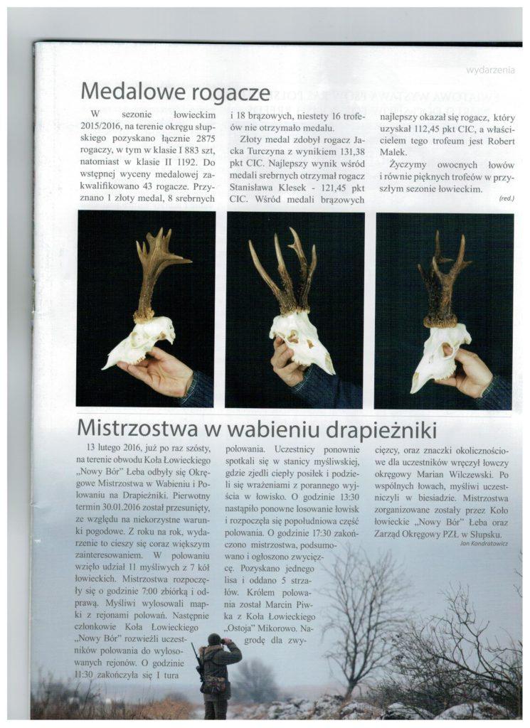 Artykuł - polowanie na drapieżniki